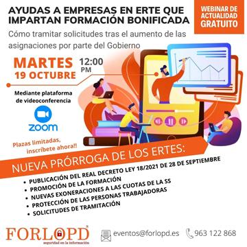 Webinar gratuito FORLOPD